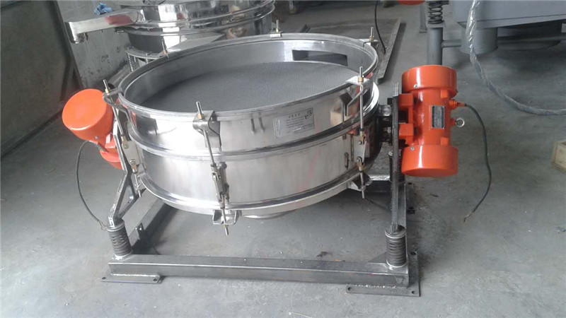 PVC Powder Flow-thru Low-profile Vibrating Sieve Machine