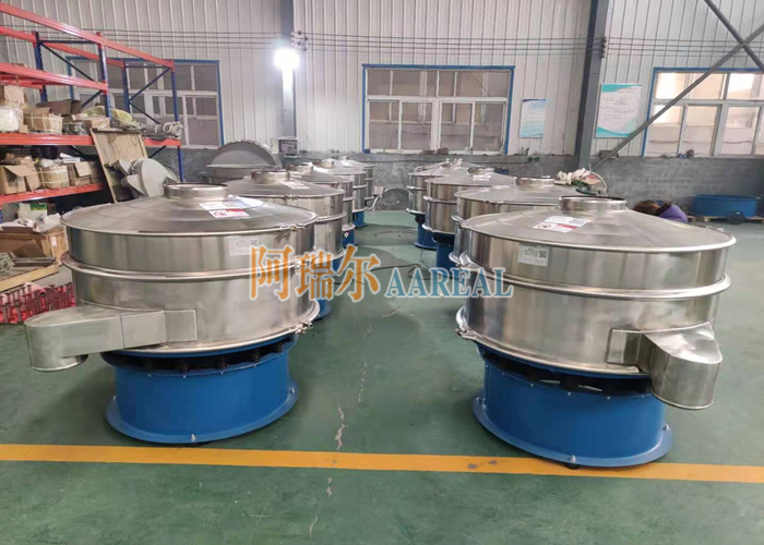 Diameter 1200mm Stainless Steel Rotary Vibrating Screen for I